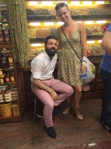 Flirtacious spice seller.